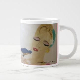 Marilyn holding a bird on coffee mug