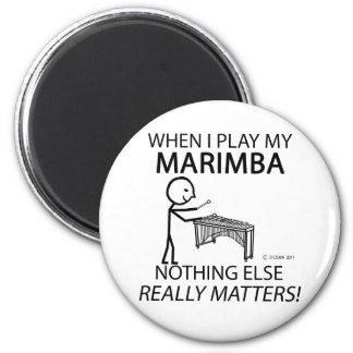 Marimba Nothing Else Matters 6 Cm Round Magnet