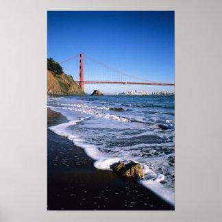 Marin Headlands, Golden Gate Bridge; San Poster