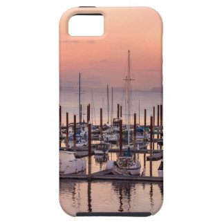 Marina along Columbia River at Sunset in Oregon Tough iPhone 5 Case