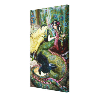 Marina and the Dragon Canvas Print