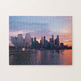 Marina area and Skyline Singapore. Puzzles