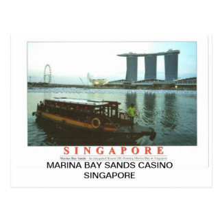 MARINA BAY SANDS CASINO SINGAPORE POSTCARD