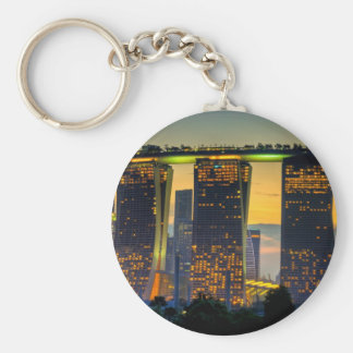 Marina Bay Sands.jpg Basic Round Button Key Ring