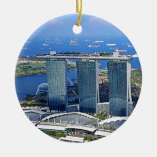 Marina Bay Sands luxury ship shaped hotel Ceramic Ornament