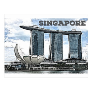 Marina Bay Sands - Singapore Postcard