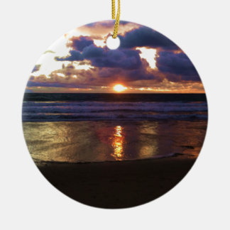 Marina del Rey Sunset Ceramic Ornament