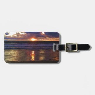 Marina del Rey Sunset Luggage Tag