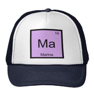 Marina Name Chemistry Element Periodic Table Trucker Hat