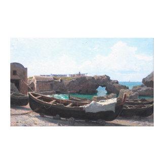 Marina Piccola on Capri Island, Italy by Haseltine Canvas Print