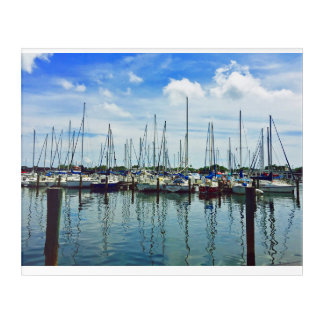 Marina scene at St. Pete Pier in Florida Acrylic Print