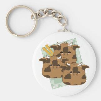 Marinated Moo Moo Dumplings Platter Keychains