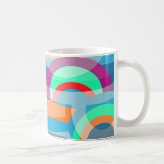 Marine abstraction coffee mug