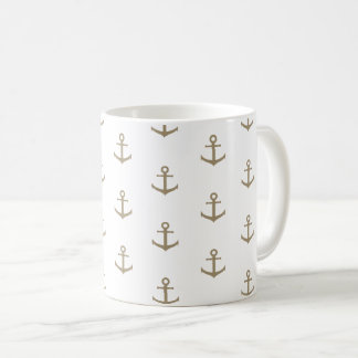 Marine anchor coffee mug