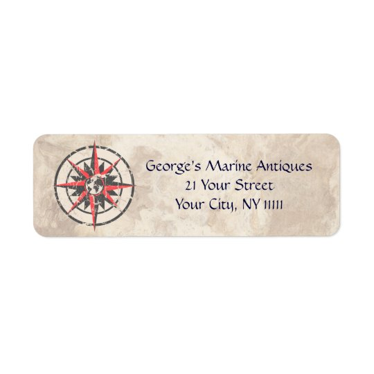 Marine Antiques Return Address Label