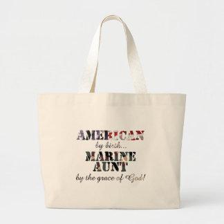 Marine Aunt Grace of God Jumbo Tote Bag
