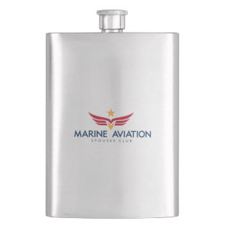 Marine Aviation Spouses Club Flask
