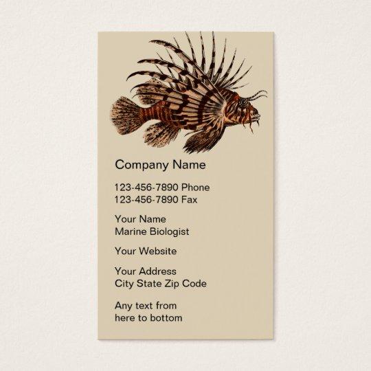 Marine Biologist Business Cards