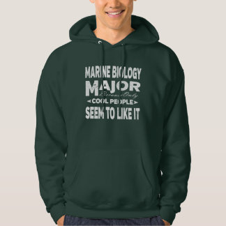 Marine Biology College Major Only Cool People Hoodie