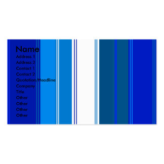 Marine blue and white stripes pack of standard business cards