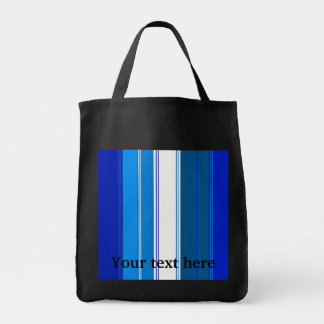 Marine blue and white stripes bags