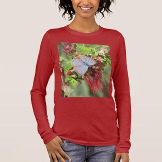 Marine Blue Butterfly Women's Shirt
