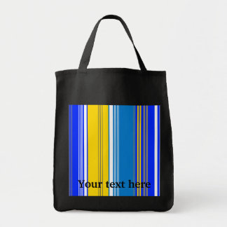 Marine blue gray and yellow stripes bag