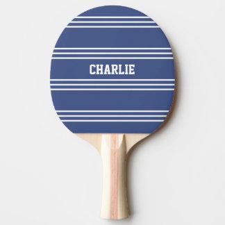 Marine Blue Stripes custom monogram paddle