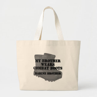 Marine Brother wears Combat Boots Canvas Bag