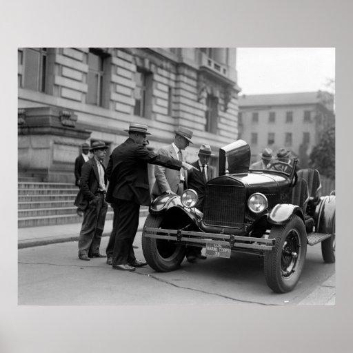 Marine Corps Car: 1926 Poster