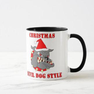 Marine Corps Christmas Devil Dog Style Mug