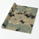 Marine Corps MARPAT Woodland Camouflage Gift Wrap Paper