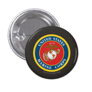 Marine Corps Seal 1 3 Cm Round Badge