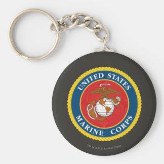 Marine Corps Seal 1 Basic Round Button Key Ring