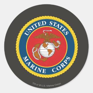 Marine Corps Seal 1 Round Sticker