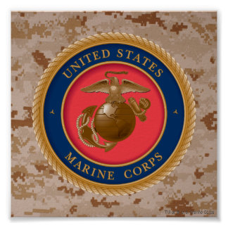 Marine Corps Seal 2 Poster