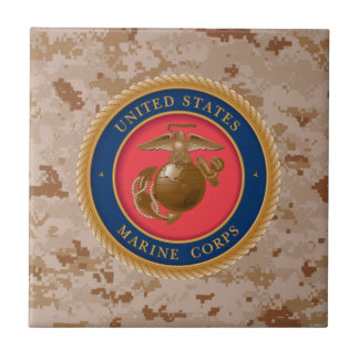 Marine Corps Seal 2 Small Square Tile