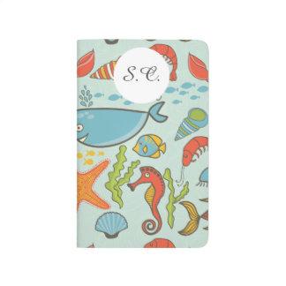 Marine Creature Pattern Journal