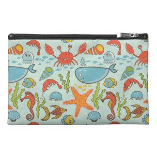Marine Creature Pattern Travel Accessory Bag