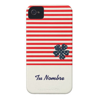 MARINE FLOWER FOUNDS HOUSING DESIGNED FOR IPHONE 4 iPhone 4 COVER