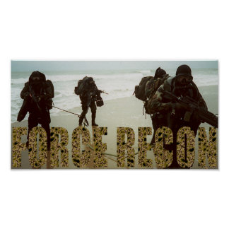 Marine Force Recon Poster
