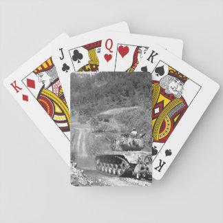 Marine infantrymen take cover_War Image Poker Deck