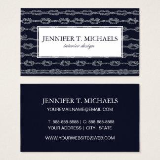 Marine Knots Pattern Business Card
