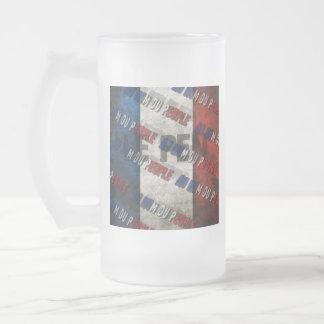 Marine Le Pen Frosted Glass Beer Mug