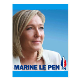 Marine Le Pen Postcard