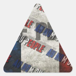 Marine Le Pen Triangle Sticker