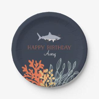 Marine Life Birthday Paper Plate