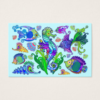 Marine Life Exotic Fishes & SeaHorses Business Card