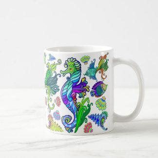 Marine Life Exotic Fishes & SeaHorses Coffee Mug