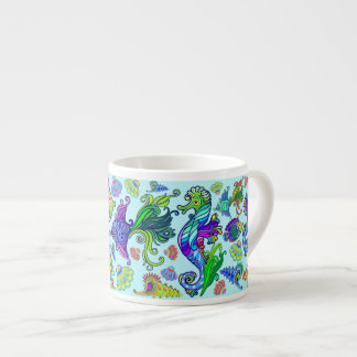 Marine Life Exotic Fishes & SeaHorses Espresso Cup